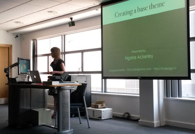 Ngaire Ackerley talk on creating a base theme