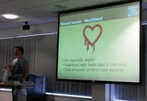 Kieran O'Shea talking about Heartbleed
