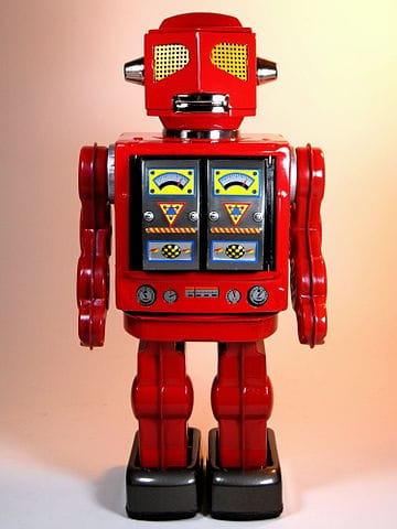 Red Evil Space Robot - front view