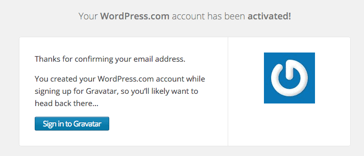 Your WordPress.com account has been activated