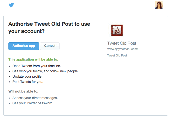 Authorise Revive Old Post
