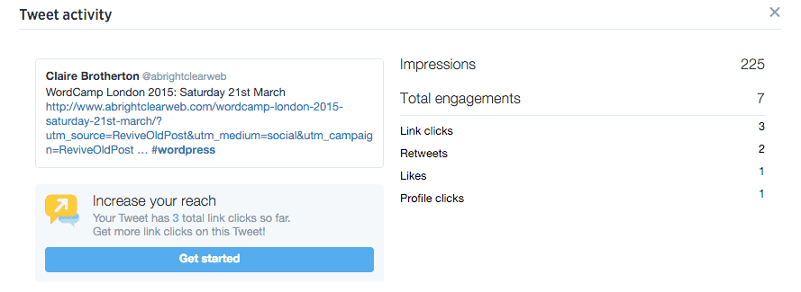 Revive Old Post - Twitter analytics