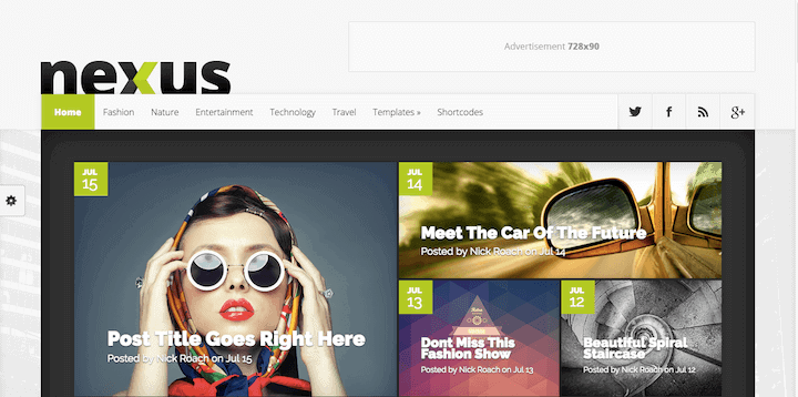 The Nexus Theme by Elegant Themes for WordPress.org