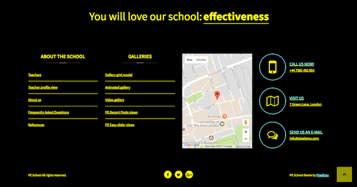 School theme, Yellow on black colour scheme