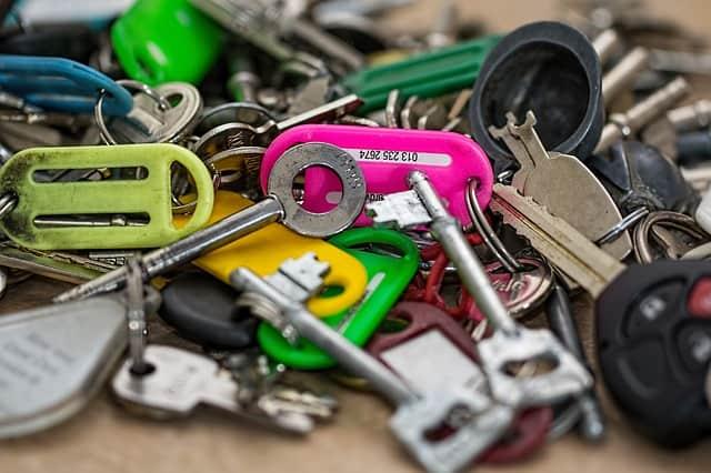 an assortment of keys